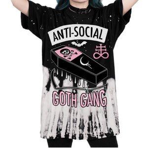Anti social goth gang shirt